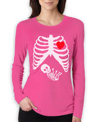 pregnant skeleton xray baby boy women long sleeve t shirt