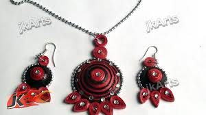 quilling earrings set diy paper quilling jewelry set how to make jk arts 369