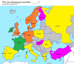 Europe Language Map by What The European Languages Sound Like 1306x1123 Mapporn