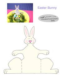 Easter Decorations For Kindergarten by Paper Bunny Easy Easter Craft Ziggity Zoom