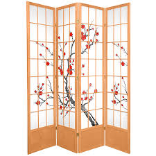 Oriental Room Dividers by Oriental Furniture 7 Ft Tall Cherry Blossom Shoji Screen Ebay