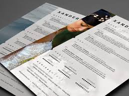 Resume Psd Template Photographer Resume Photoshop Psd Template On Behance