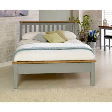 Bedroom Furniture New Hampshire Buy Birlea New Hampshire Grey And Oak Low End Bed Frame Online