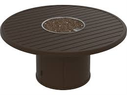 tropitone fire pit table reviews tropitone banchetto aluminum 54 round fire pit table 401554fp