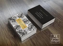 Makeup Business Cards Designs Modern Business Card Makeup Business Card Tropical Printable