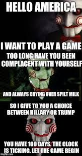 Want To Play A Game Meme - jigsaw imgflip