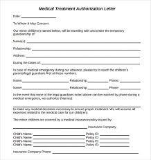 doc 878995 medical permission letter u2013 child medical consent
