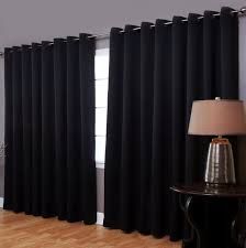 Blackout Curtains Living Room Blackout Drapes With Standing L Also Brown Wooden 1