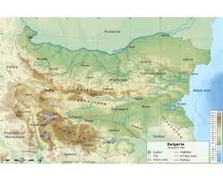 Topographical Map Of Europe by Maps Of Bulgaria Detailed Map Of Bulgaria In English Tourist