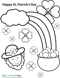 st patricks coloring pages sun flower pages