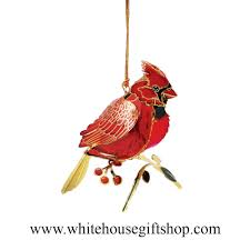 cardinal bird ornament year display summer sale 24kt