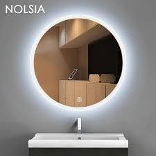 round makeup mirror with lights round dressing room led mirror light luminaria bathroom toilet led