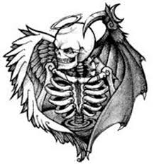 lower back death bat tattoo design