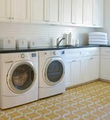 Contemporary Laundry Room Ideas Yellow Laundry Room Flooring Design Home Interiors