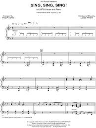 sing sing sing with a swing louis prima louis prima sing sing sing arr philip kern satb choir