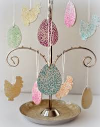 Easter Tree Hanging Decorations by Sewforsoul Easter Hanging Ornament Tutorial