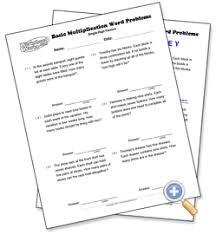 single digit factors basic multiplication word problems
