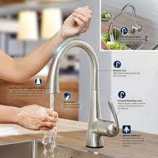 Grohe Ladylux Kitchen Faucet Grohe 32298001 Starlight Chrome Ladylux Pull Down High Arc Kitchen