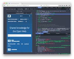responsive design mode firefox developer tools mdn