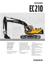 volvo ec210 blc specs vehicles vehicle technology