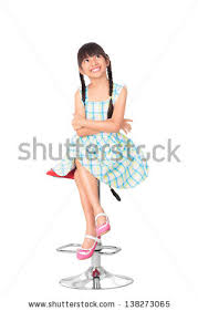 High Sitting Chair Little Sitting On Chair Stock Images Royalty Free Images