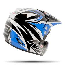 blue motocross gear nitro shard black blue white motocross helmet mx quad bike off