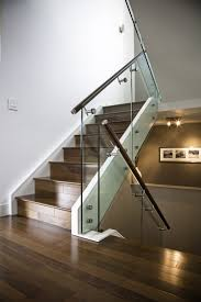 Height Of Handrails On Stairs by Hand Made Maple Stair With Glass Railing And Stainless Steel