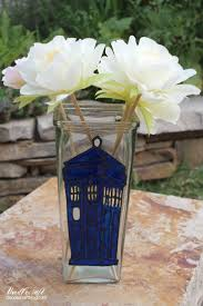 Flower Vase Crafts Doodlecraft Doctor Who Tardis Stained Glass Vase