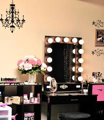 furniture posh makeup table with mirror and lights enliven up