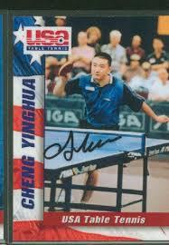 Us Table Tennis Team Usa Table Tennis Team Autographed Card Set