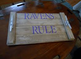 baltimore ravens serving tray personalized sports team names