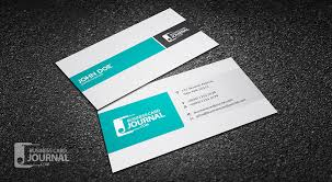 two column minimal corporate business card template