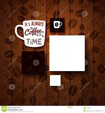 coffee shop background design design template for your coffee shop stock illustration