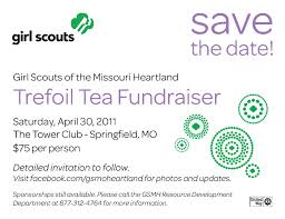 Fundraising Invitation Card Scout Fundraiser Thriftea Celebrations Blog