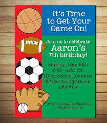 sports birthday invitations u2013 unitedarmy info