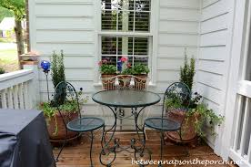 Decorating Decks And Patios Container Gardening Decorate The Deck And Patio With Flowers For