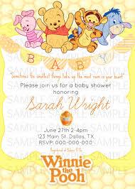 Winnie The Pooh Invitation Cards Winnie The Pooh Invitations Baby Shower Futureclim Info