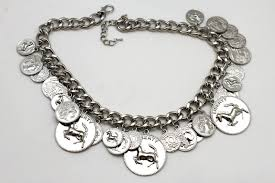 new necklace chain images Silver metal chain liberty rodeo horse coin charm new necklace jpg