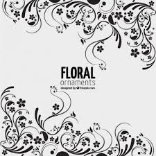 free vector floral ornaments background 7645 my graphic hunt