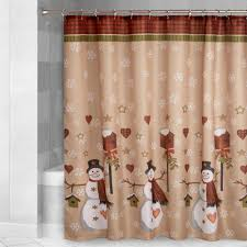 Snowman Valances Country Snowmen Fabric Shower Curtain Christmas Tree Shops Andthat