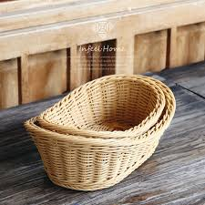 bakery basket fruit basket rattan weaving storage basket bakery bread basket pp