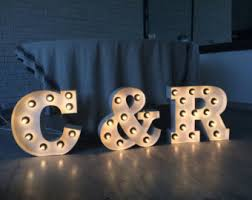 Home Decor Initials Letters Light Up Letters Etsy
