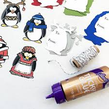 penguin gift tag ornaments diy 100 directions