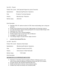 Cnc Machinist Resume Samples by Revised Resume