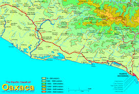 Pacific Region Map Regional Coast Of Oaxaca Map