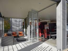 Contemporary Patio Doors Rustic Bifold Doors Patio Contemporary With Concrete Floors Patio