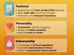 list of adjectives for resume food service waitress u0026 waiter resume samples u0026 tips