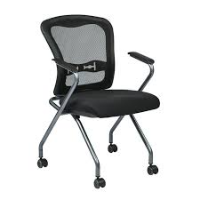 Mesh Computer Chair by Osp Deluxe Nesting Chair With Breathable Mesh Back 2 Pk Atwork