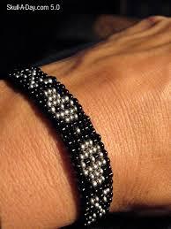 skull bracelet bead images Beaded skull bracelet jpg