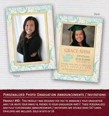 sided graduation announcements designs sided casual graduation invitations at costco plus